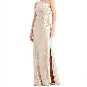 CK One-Shoulder Goddess Gown